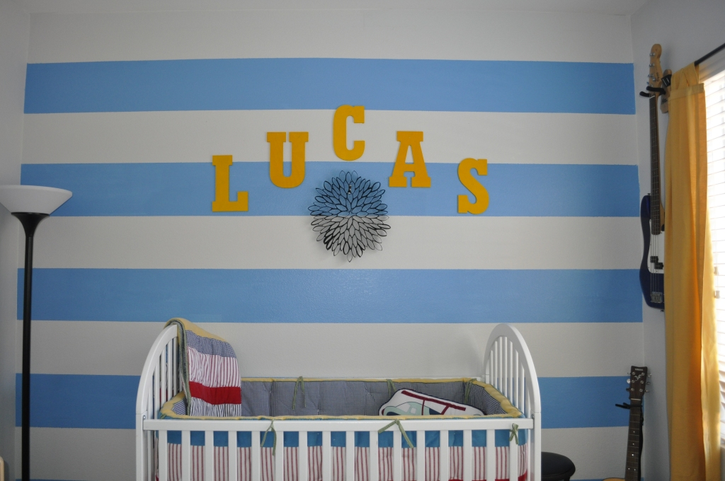 nursery, blue and grey,